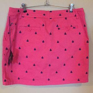 British Khaki Skirts - NWT Pink British Khaki Sailboat Skirt